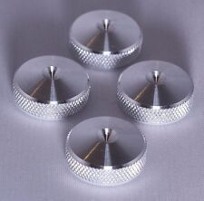 UNIQUE - British Made - 4x  XLARGE CNC aluminium Speaker spike pads shoes feet