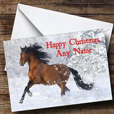 Lovely Horse Christmas Greetings Card Personalised