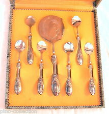 POSATE ARGENTO ANTICHE DA DOLCE 6 CUCCHIAINI SPATOLA Antique Server Silver Spoon