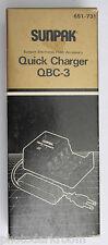 Sunpak QBC-3 Quick battery Charger 3-Hour for QB-3 Flash Bat 651-731 - NOS D102