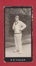 F.  &  J.  SMITH  -  RARE  CRICKETER  CARD  -  VOGLER  OF  CAPE  COLONY  -  1912