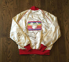 Vintage Disney Channel Jacket Large Satin 1980s Mickey Mouse Rare Donald Duck