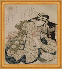 Courtesan asleep Katsushika Hokusai Japan Schlafen Tracht Frauen B A3 02760