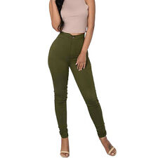 LADIES SKINNY SLIM FIT STRETCHY HIGH WAISTED JEANS PANTS WOMEN JEGGINGS TROUSERS