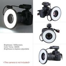 MRC-232 Macro LED Ring Flash Light Lens Dimmable 14W for Nikon Canon Camera IP3U