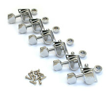 "099-0822-102 Lefty Fender Chrome 70s Style ""F"" Logo Guitar Tuners  Strat/Tele"