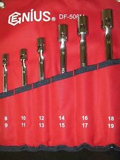 Flex Joint Socket Wrench Set Metric, Double End Flex Socket Wrench DF-506M