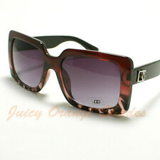 Womens DG Eyewear Sunglasses Oversized Square Designer Frame 2-Tone PURPLE