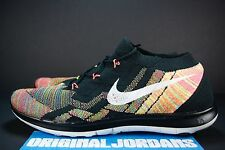 NIKE FREE 3.0 FLYKNIT MULTICOLOR SZ 14 718418 011 RACER CHUKKA TRAINER LUNAR