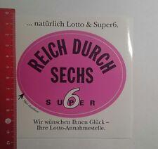 Aufkleber/Sticker: reich durch 6 super 6 (081116123)