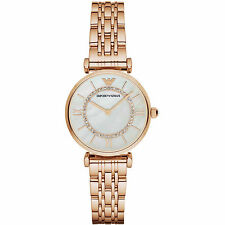 Emporio Armani AR1909 Rose Gold Tone Stainless Steel Ladies Watch Nuevo