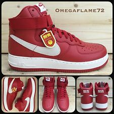Sz 9 Nike Air Force 1 Nai Ke China, AF1 Jordan 743546-600 Red White Ltd Edition