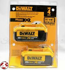 New DeWALT DCB204-2 XR 20V 20 Volt Max 4.0 Ah Amp Lithium Ion Battery Packs NIP