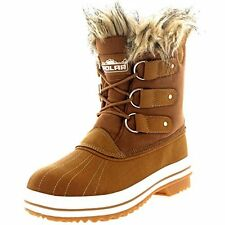 NEW Women's Winter Boots Snow Fur Warm Insulated Waterproof Fashion Shoes Size 8