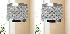 2x 24cm Modern Easy Fit Moda Sparkly Ceiling Pendant Light Shade Fitting -SILVER