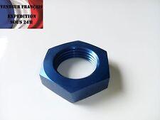 Ecrou pour passe cloison Dash 6 AN 6, anodisé bleu, VENDEUR FRANCAIS