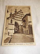 alte Postkarte Ansichtskarte Karte PK AK Lublin kościół Kirche Polen 1940