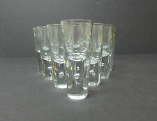 SET/10  VINTAGE MID-CENTURY CORDIALS / LIQUOR GLASSES, CONTROLLED BUBBLE