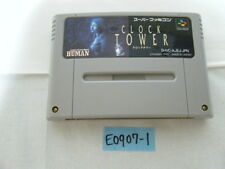 [Free ship] Clock Tower set Nintendo Super Famicom Japanese SNES HUMAN