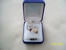 10KT GOLD WITH HEART SHAPED GENUINE AMETHYST STONE NEW FEBRUARY