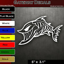 Skeleton Fish Large Vinyl Decals for Boat Fishing graphics sticker window COOL!