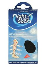 Unisex Men Flight Travel DVT compression Socks One size 9-11 uk, 43-46 eur Black