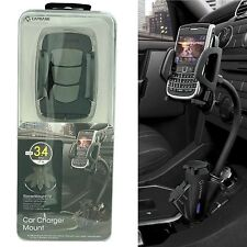 Capdase T2 Car Lighter Dual USB Cradle Mount Charger for Galaxy S3 S4 Note 3 2