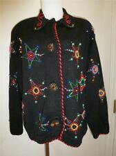 MICHAEL SIMON Western Star Badge Button Sweater Size Large