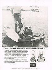 PUBLICITE   1972   TORO   tondeuse