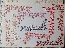 10 Caja de memoria de corte de morir fastuoso rama Rosas Para/boda/Kanban/Tilda
