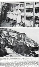 12 ROQUEFORT VUE GENERALE ET CAVES FROMAGERIE IMAGE 1925 OLD PRINT