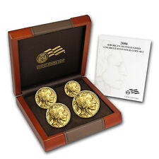 2008-W Uncirculated Gold Buffalo 4 Coin Set - Box and Certificate - SKU #54518