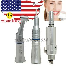 USA Push Dental Low Speed Handpiece straight Contra Angle Air Motor E-Type 4H