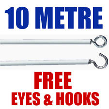 NET CURTAIN WIRE | FREE EYES & HOOKS | 10 METRE