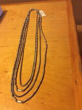 $55 Lucky Brand Two-Tone Multi-Layer Long Length Necklace LB 15