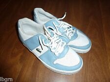 LACOSTE *THRILL PUNCH* SNEAKERS/TENNIS SHOES - BLUE/WHITE LEATHER - LADIES 5.5