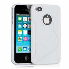 Silicone Gel S Line Case Cover For Various Apple iPhone + Screen Protector