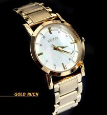 DKNY WOMEN'S COLLECTION GOLD MOTHER OF PEARL WATCH NY4520