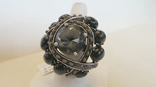 Wildlife by Heidi Klum Cabochon & Crystal Duchess Ring BLACK  SIZE 8 J265883