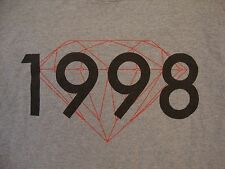 Diamond Supply Company Co. 1998 Logo Red Diamond Gray T Shirt M