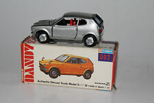 TOMY TOMICA DANDY #002 HONDA Z GT COMPACT, SILVER, EXCELLENT, BOXED
