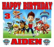 NEW PERSONALIZED CUSTOM PAW PATROL BIRTHDAY SHIRT PARTY FAVOR TEE GIFT