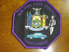 NEW YORK STATE POLICE TROOP  D ONEIDA    HEADQUARTERS  STATE TROOPER PATCH
