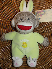 BABY STARTERS SOCK MONKEY PLUSH FIRST EASTER GREEN PJ'S BUNNY SHOES SECURITY TOY