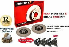 FOR PEUGEOT 307 2001-9/2006 NEW REAR BRAKE DISC SET & PADS & BEARINGS