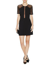 NWT $415 Sandro 'Rahel' Flared Mini Dress in Black - Sandro size 1 / USA 2-4!