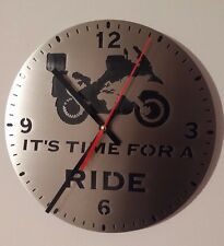 Wall clock IT'S TIME FOR A RIDE BMW GS MOTO GADGET