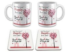 Set of Personalised 'And They Lived Happily Ever After'  w/  Matching Coasters