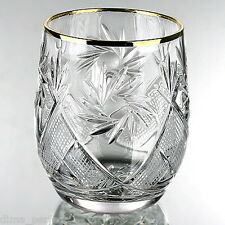 Set of 6 X 50 ml.  Russian Belarus Cut Crystal Shot Glass for Vodka, Cognac USSR