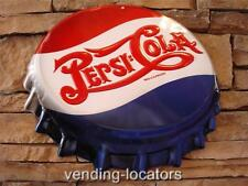 PEPSI COLA Embossed Metal Tin Bottle Cap Vintage Style Double Dot Coca Cola 7 Up